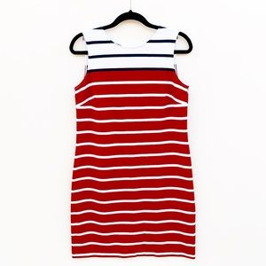 Brooks Brothers Striped Sleeveless Sheath Dress